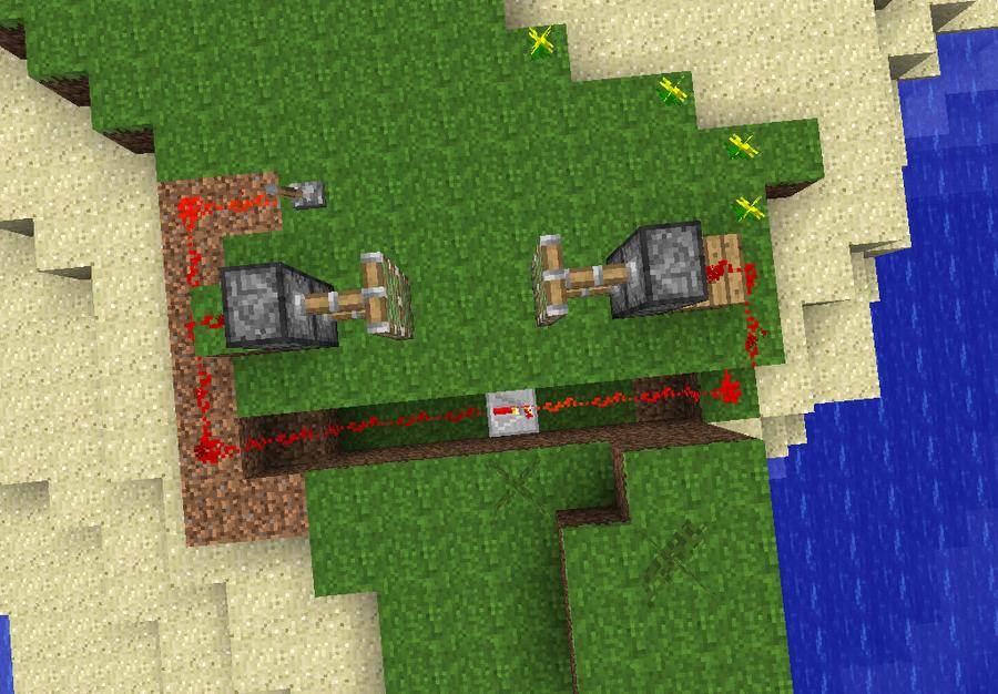 2x2 Minecraft piston door pt1 by Jambowman on DeviantArt