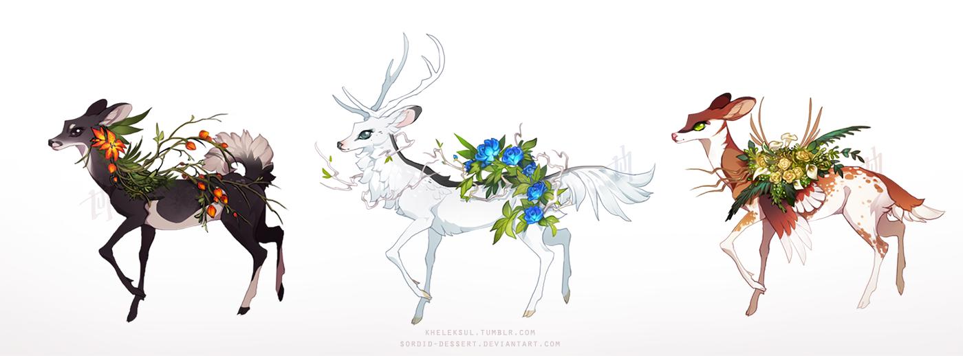 Verdant Deer - [OTA closed] by sordid-dessert