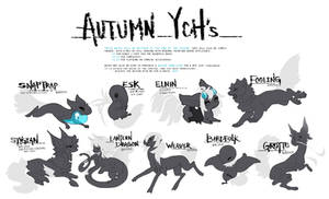 Autumn YCH's (CLOSED) by mirrorly