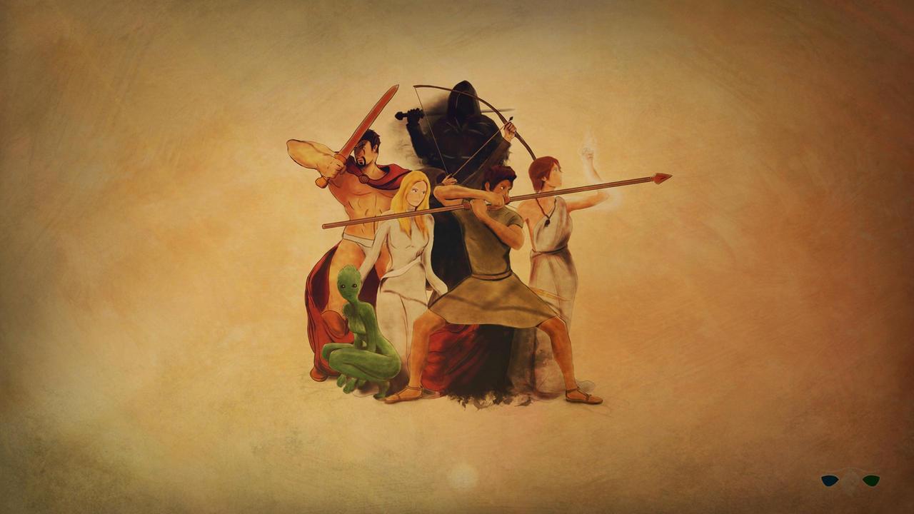 Homeron Etark: Atuko and main characters by FrancescoGiuffrida