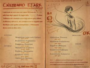 Calendario Etark / Etark calendar (Ancient Doc)