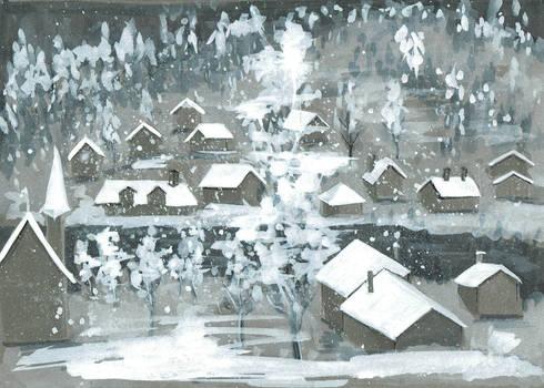 Inktober 2019 - Day 11 - Snow