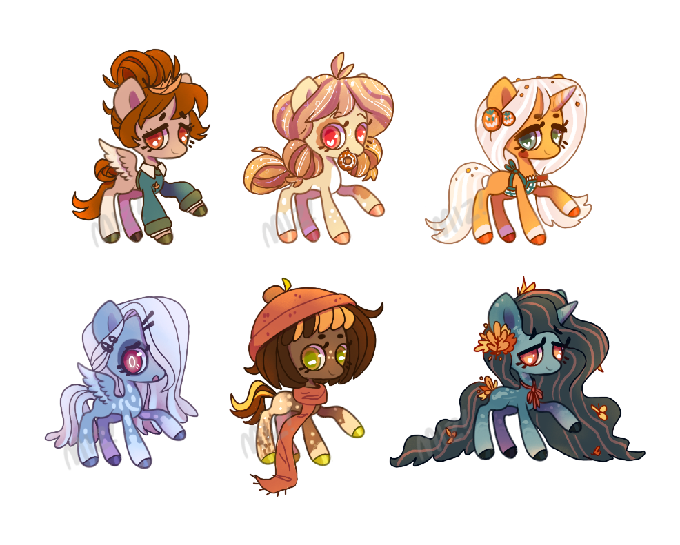 Fall Pony Adopts! - {3/6 OPEN!!}