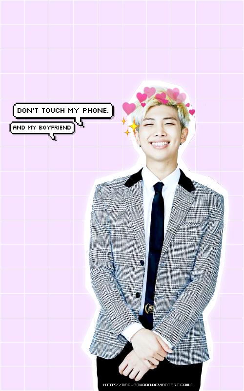 Wallpaper Rap Monster Dont Touch My Phone By Maelanwoon