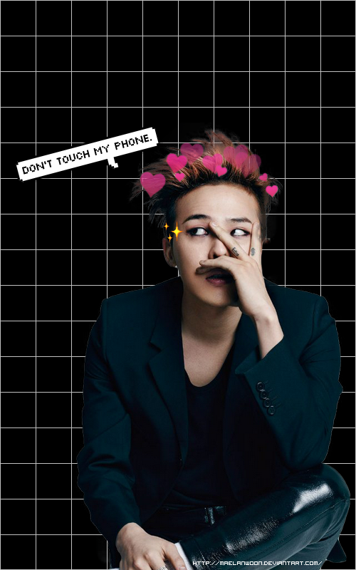 Wallpaper Gd Dont Touch My Phone By Maelanwoon On