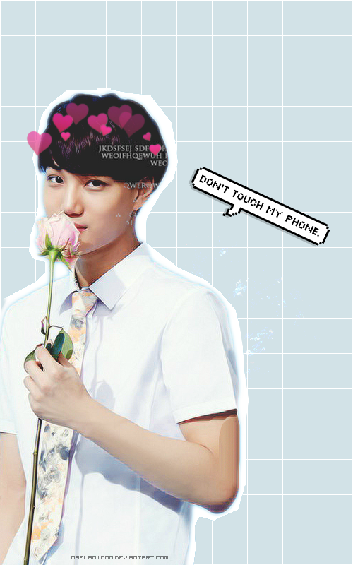 Wallpaper Kai Dont Touch My Phone By Maelanwoon On