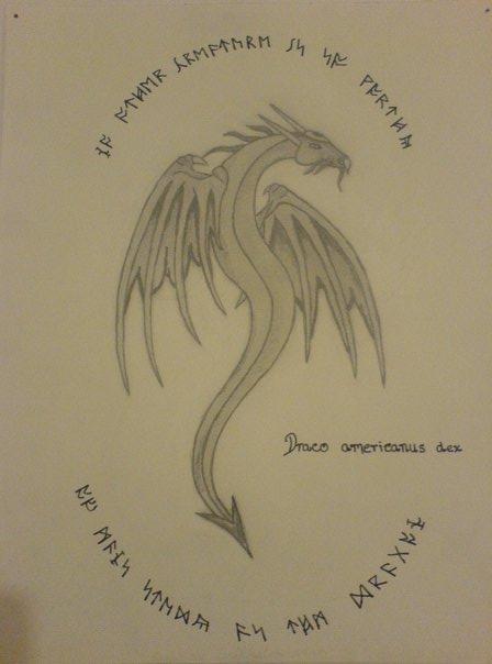 Dragon and dragon script by MindlessPinkKitty on DeviantArt