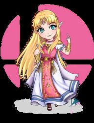 Princess Zelda SSBU by Misakuh