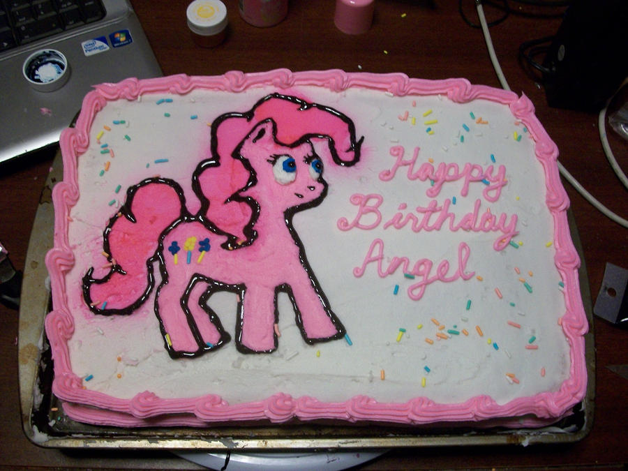 MLP Pinkie Pie Birthday Cake By Foxbeast