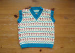 7th Doctor Toddler Vest (Commission) by fourthimbles