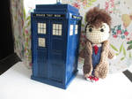 Mini 10th Doctor Crochet Doll by fourthimbles