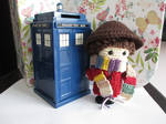 Mini 4th Doctor Crochet Doll by fourthimbles