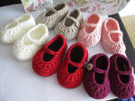 Crochet Baby Shoes (FOR SALE) by fourthimbles