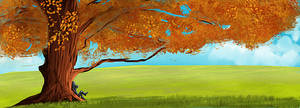 Future fall landscape