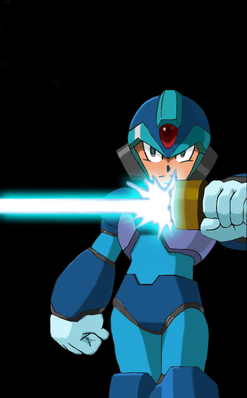 Mega Man Xtreme Cellshade by kenshinffx