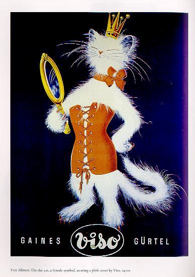 Kitten in a corset by Rabbette