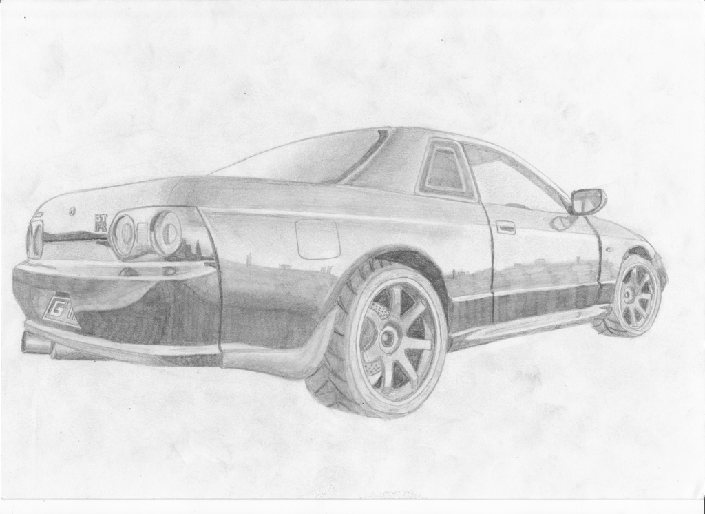 Line Drawing Nissan Gtr : Nissan skyline line drawing
