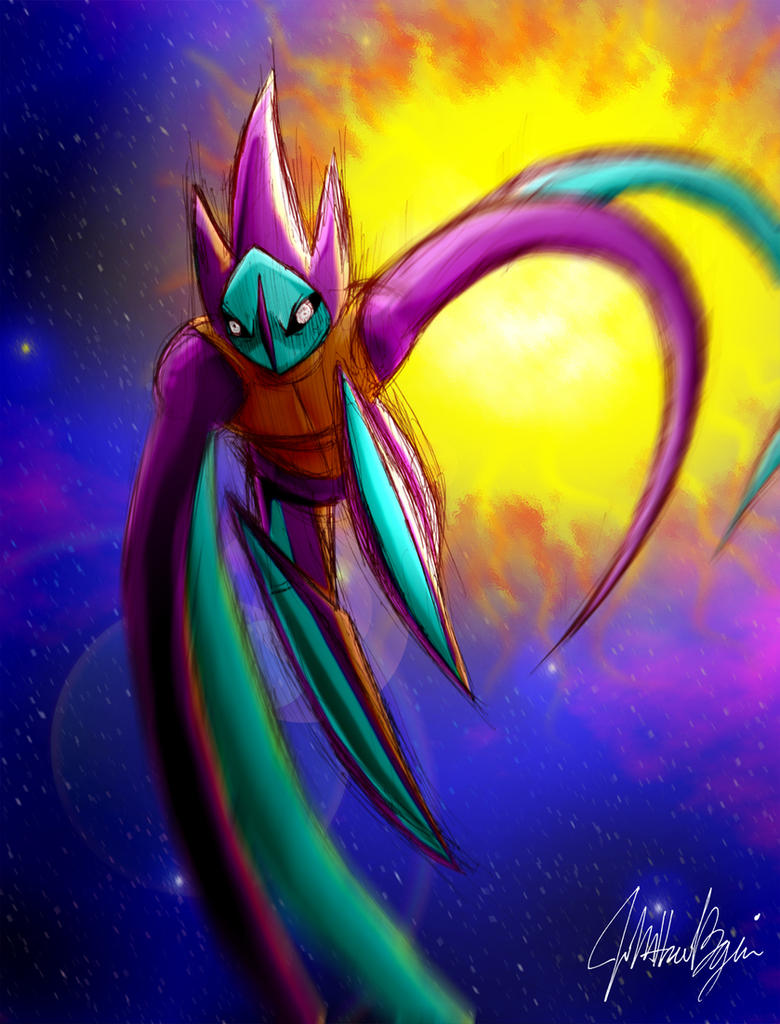 Pokemon - Deoxys Attack Form by thedarkwanderer on DeviantArt