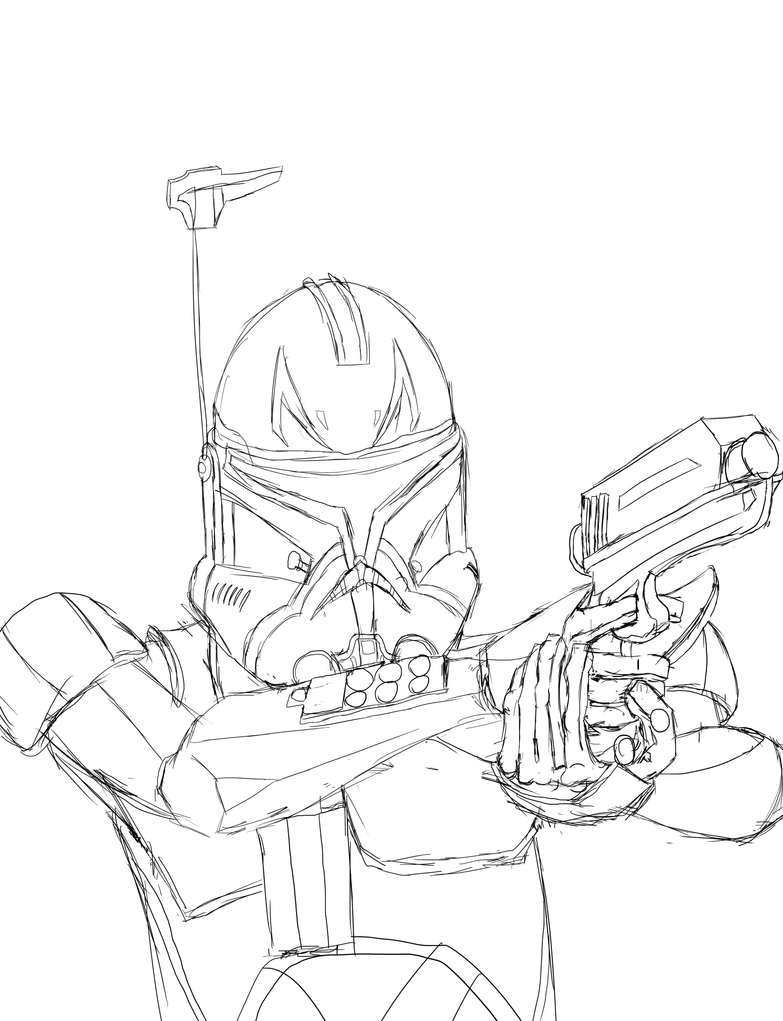 captain rex coloring page - captainrex free colouring pages