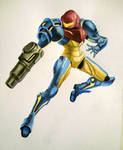 Samus Aran Watercolor