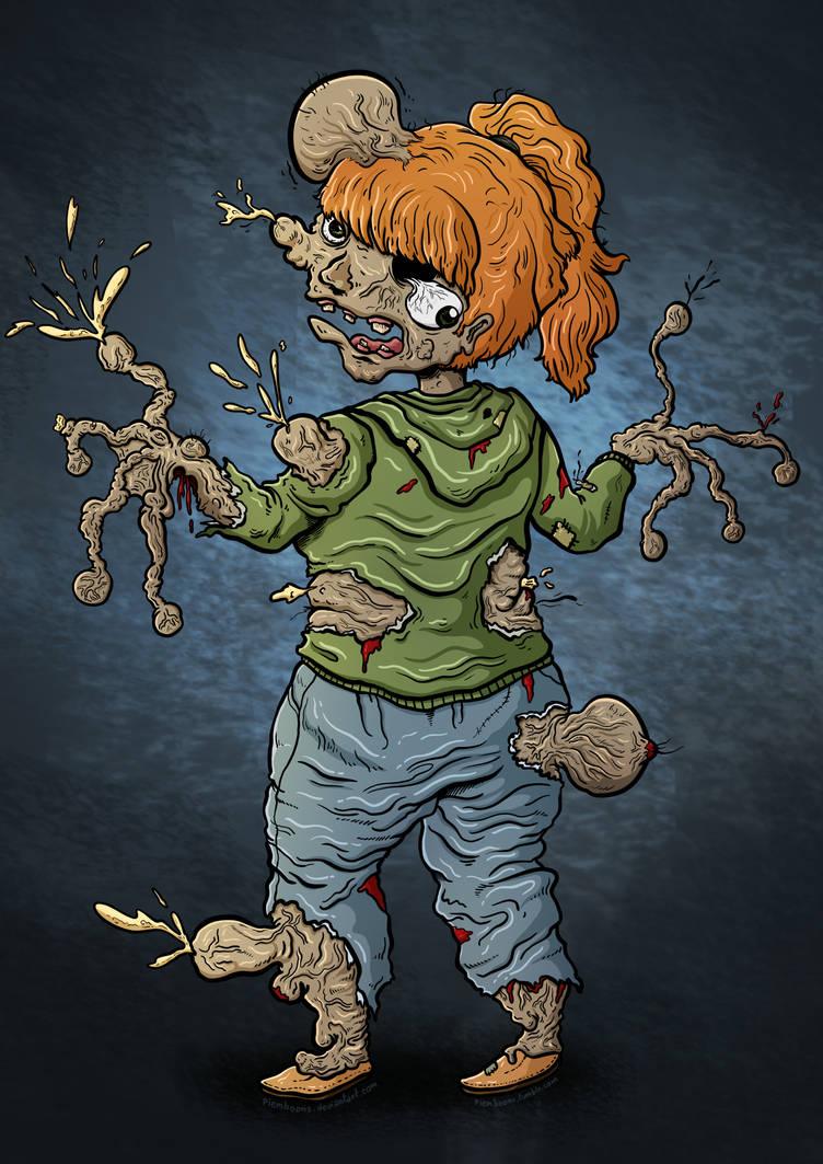 Casual Girl Parasite Zombie