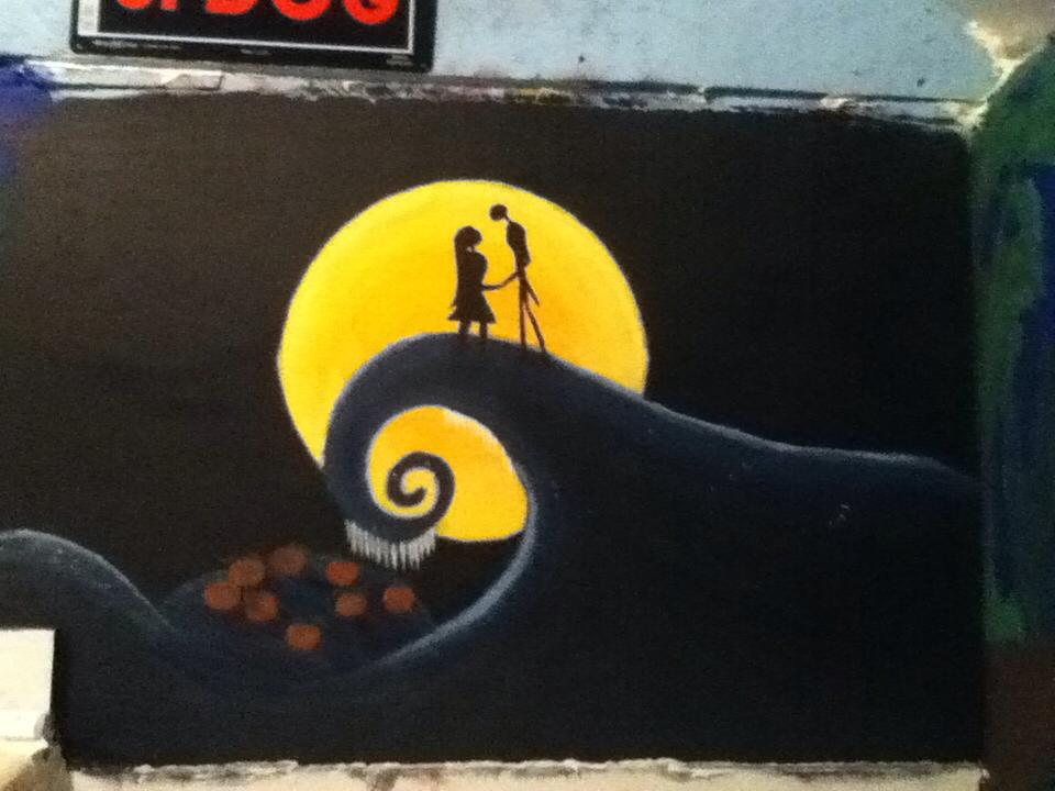 nightmare before christmas mural by mollydarkheart on. Black Bedroom Furniture Sets. Home Design Ideas