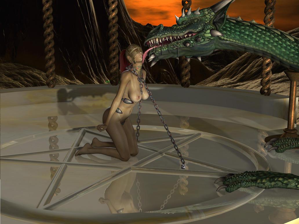 Old Render: Dragon Licked by maxmillean