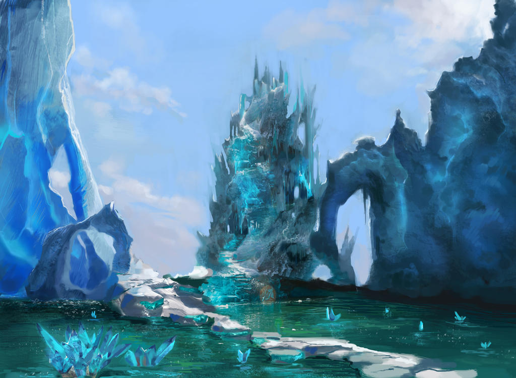 Land of ice by Anamicheal