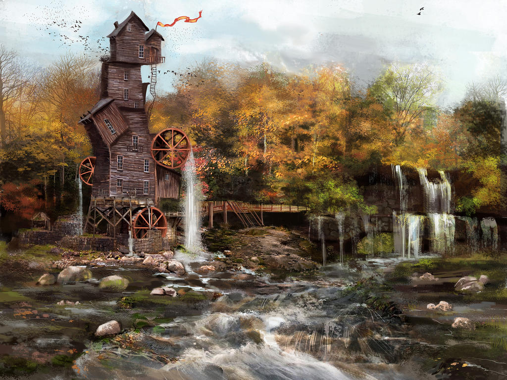 old mill by Anamicheal