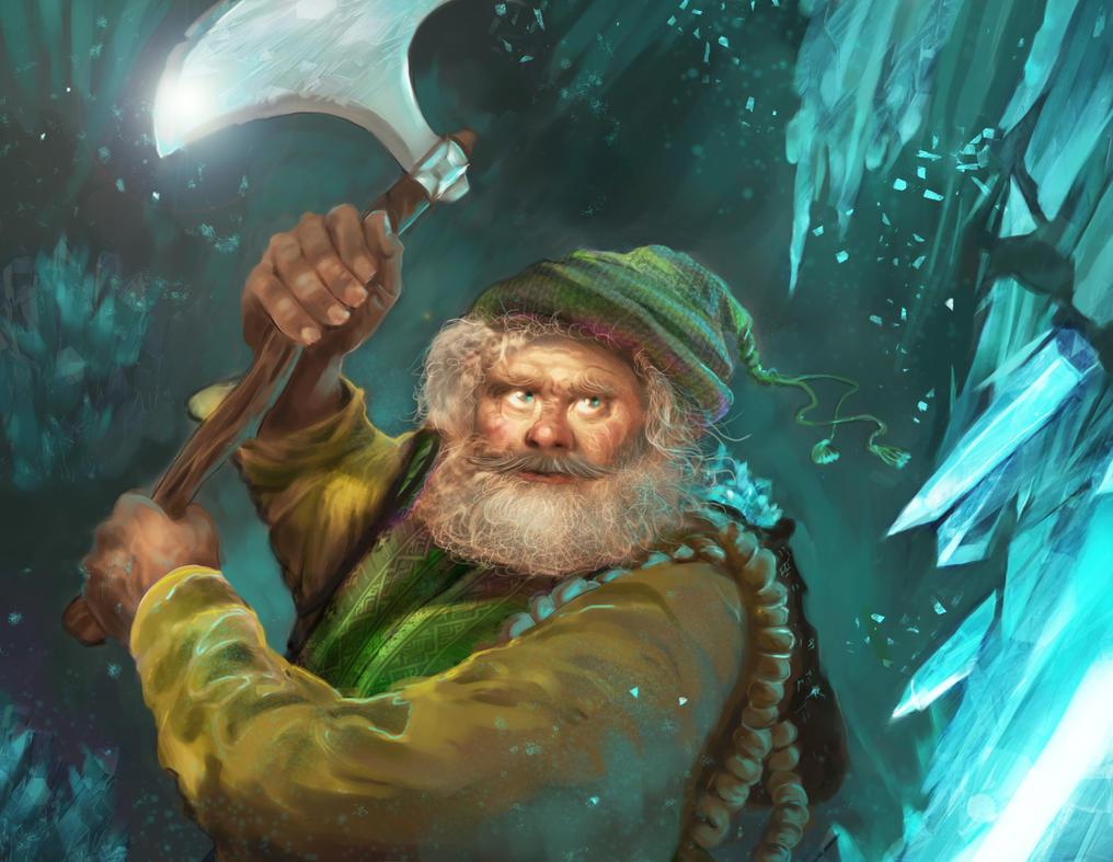 Miner dwarf by Anamicheal