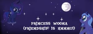 Princess Luna filly (cover for a contest)
