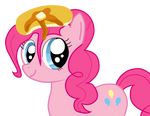 Pinkie Pie with pacake on her head