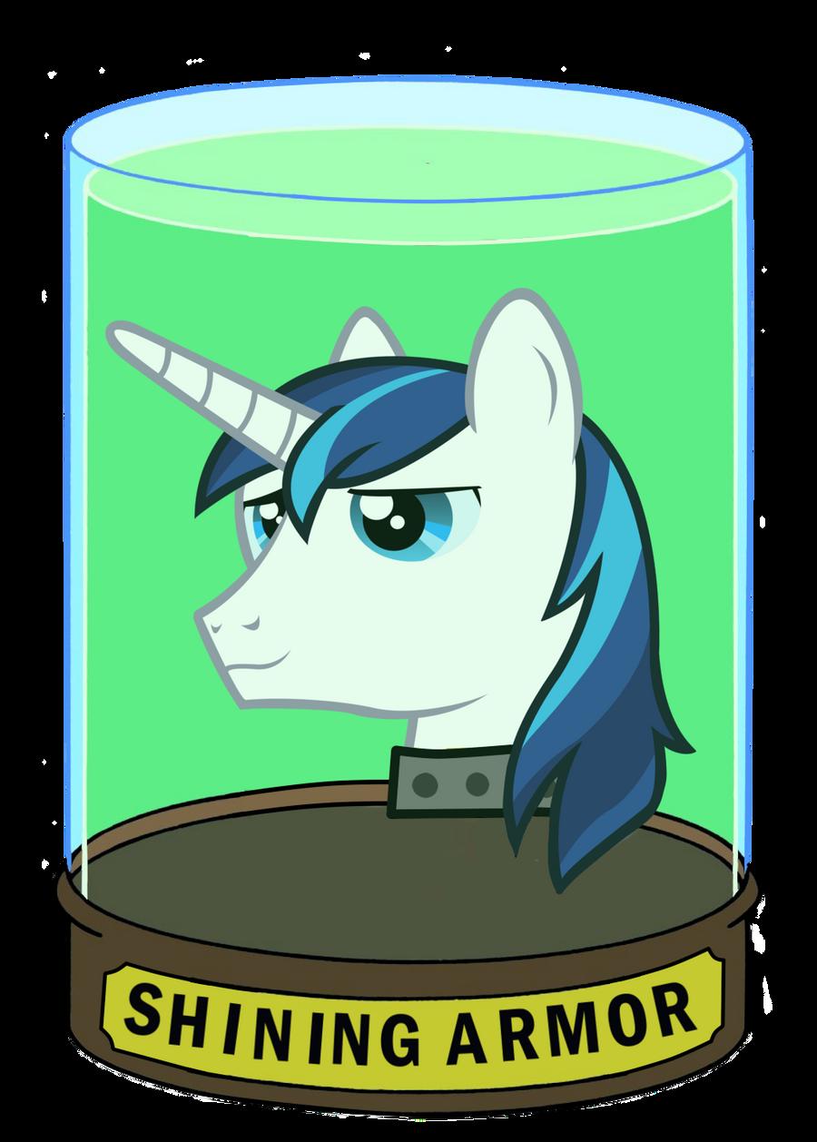 Shining Head In A Jar
