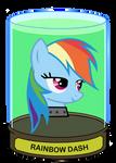 Rainbow Dash head in a jar