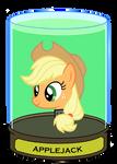 Applejack Head in a jar