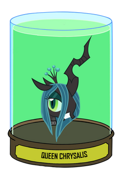 Chrysalis: Queen of the changelings Head in a jar