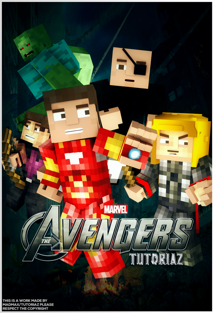 Good Wallpaper Minecraft Poster - _minecraft_avengers_poster_by_madmaxblack-d7agufp  Gallery_949164.png