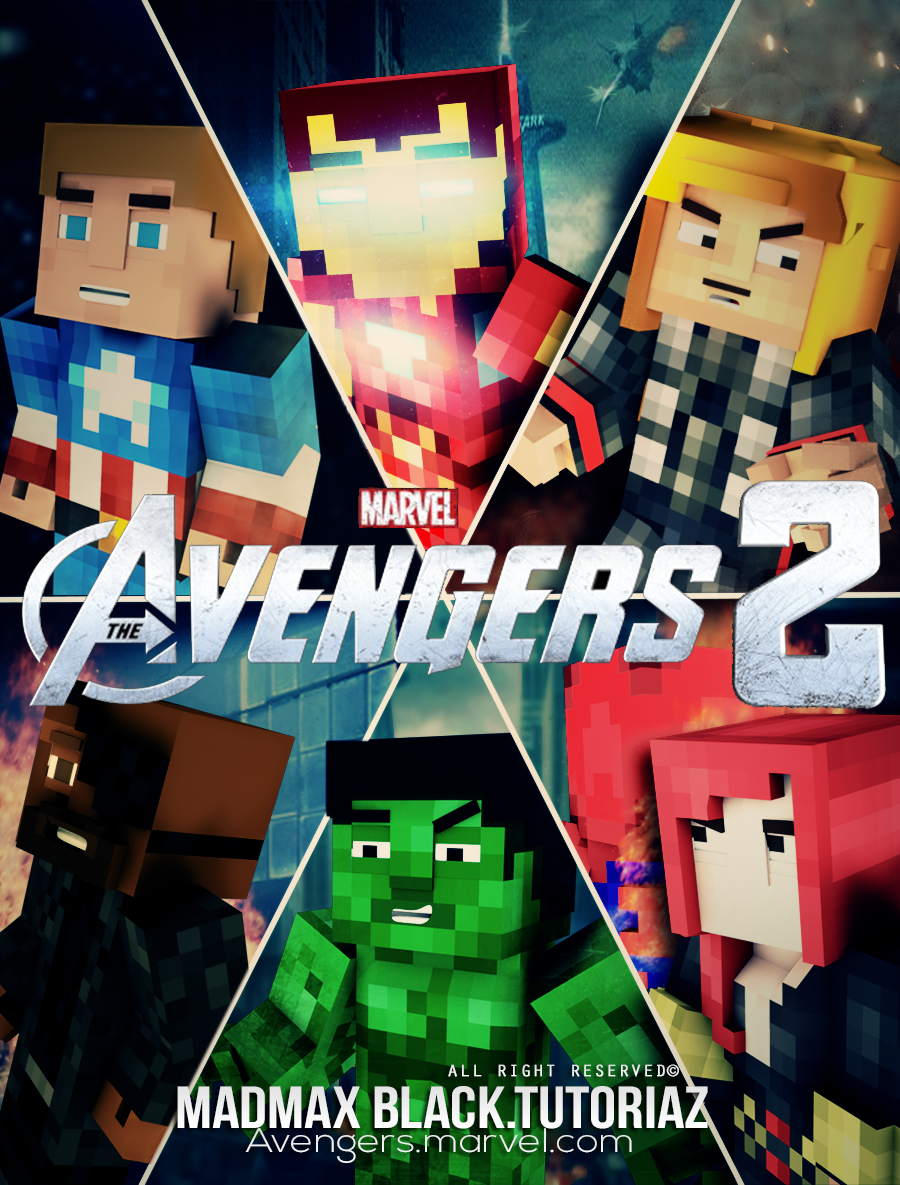 Simple Wallpaper Minecraft Poster - _minecraft_avengers_2_poster_by_madmaxblack-d7atfk4  Graphic_527293.png