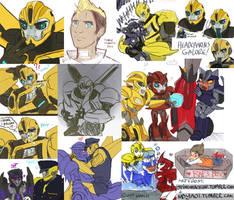 Transformers Prime - Doodle collage