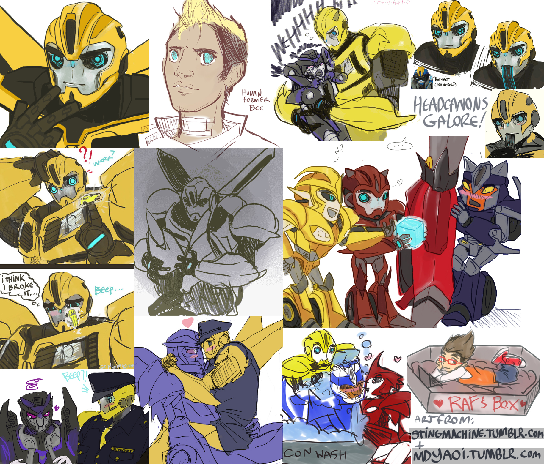 Transformers Prime - Doodle collage by massive-destruction