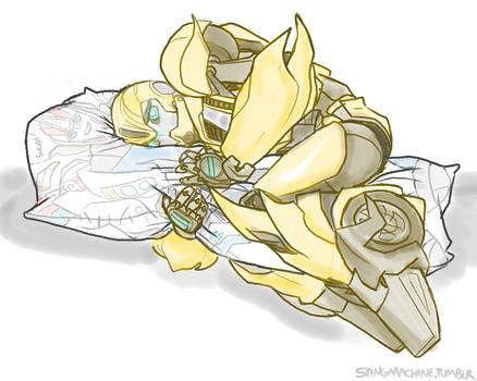 Transformers Prime Bumblebee + Smokescreen pillow