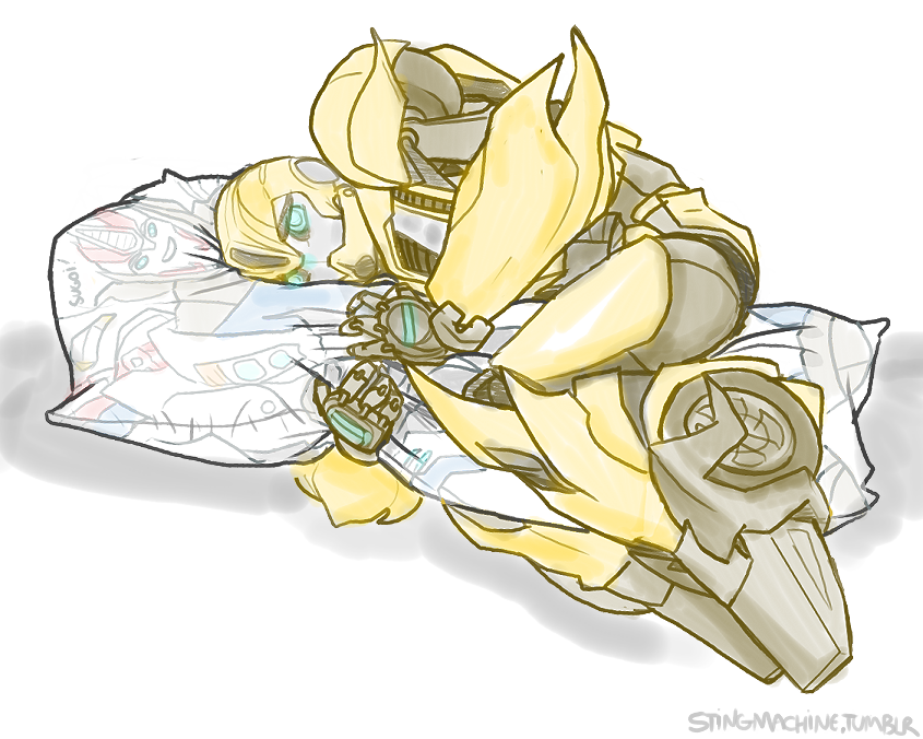 Transformers Prime Bumblebee + Smokescreen pillow by massive-destruction