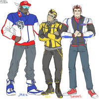 Humanformers Jazz, Bumblebee, and Smokescreen by massive-destruction