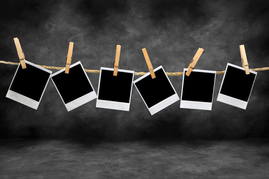 Hanging Polaroids