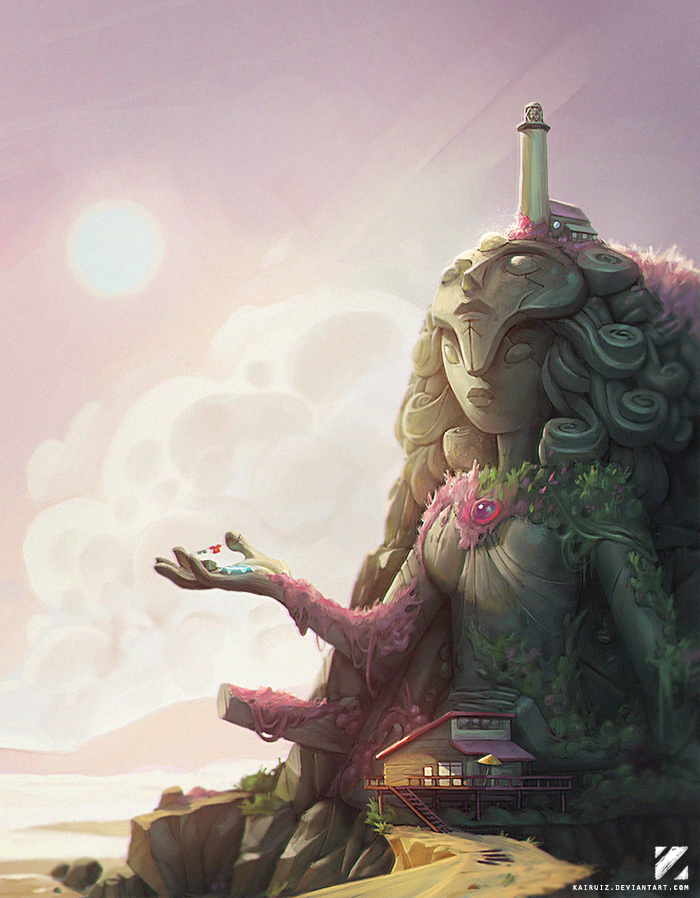 I painted over a screenshot of the temple. Hope you guys like it! EDIT------------------------------------------------------- After many requests, I edited a bigger version to use as a wallpaper:&n...