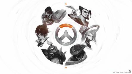 Overwatch sketches wallpaper