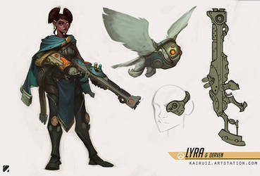 Lyra and Derven - Fan Overwatch Character Concept