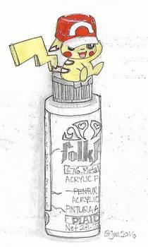 Pikachu on Arcrylic