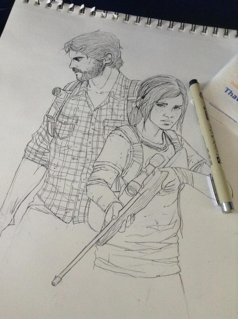 The Last of Us - Wip Ink sketch by Amanda-Lara1996