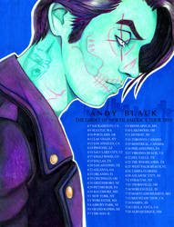 Andy Black Ghost of Ohio America fanmade poster